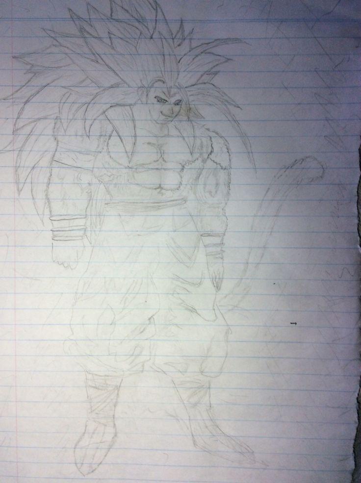 """Goku """"ss5"""" concept art"""