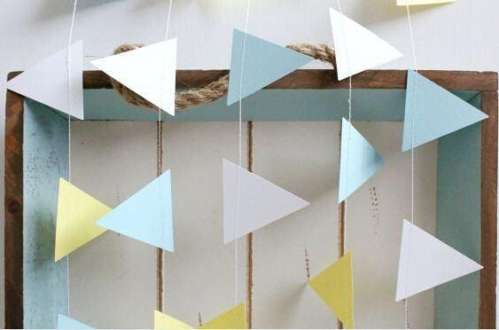 Geometric bunting garland ~ Nursery ~ Bridal ~ Event ~ Christening ~ Baptism ~ Bar / Bat Mizvah ~ Birthday ~ Custom Made ~ by SimplyStunningEvent on Etsy