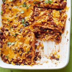 Mexican Quesadilla Casserole - Allrecipes.com:  use corn tortillas, not flour