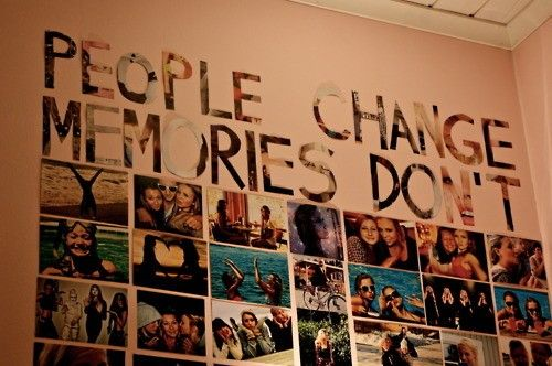 Unfortunately the walls of my room aren't smooth enough to handle tape/tacky dots. I do want to do this one day, though!: Photo Collage, Memories Wall, Photo Wall, People Changing, Dorm Ideas, Colleges Dorm, Dorm Rooms, Pictures Wall, Bedrooms Ideas