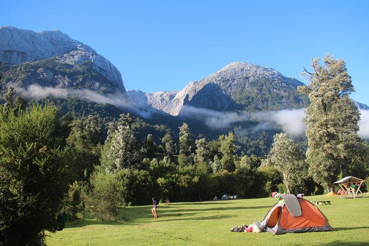 Camping La Junta in Cochamó Chile.
