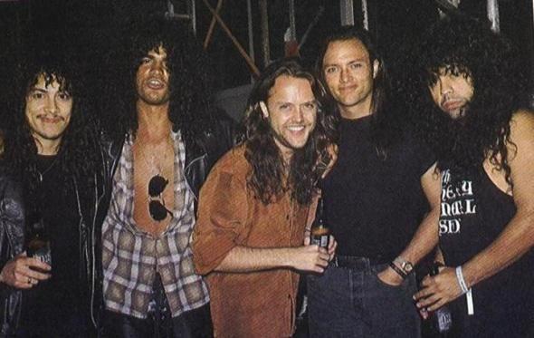 Kirk Hammett Slash Lars Ulrich Geoff Tate And Gonzo