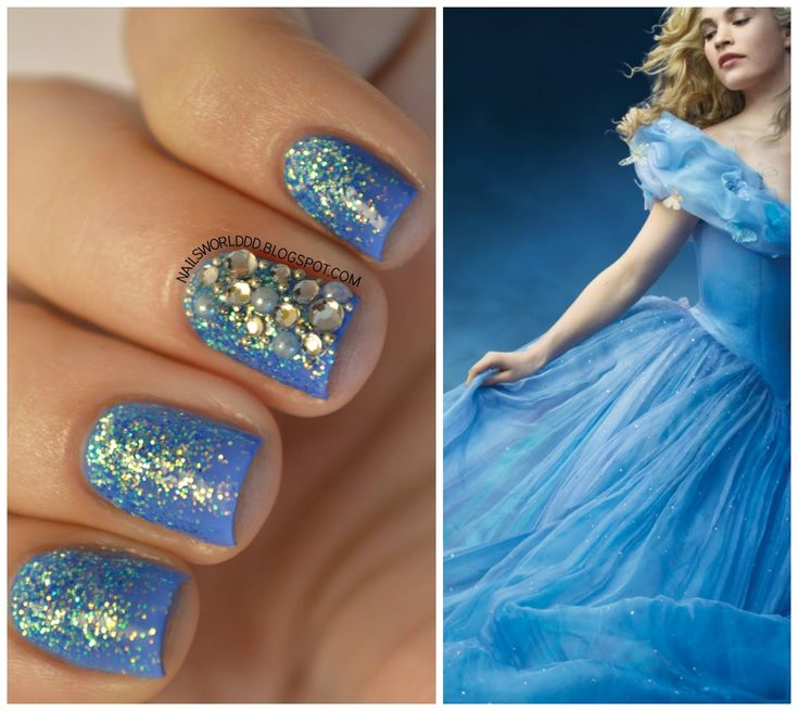 Cinderella Nails: Disney Cinderella Nail Art - Google Search