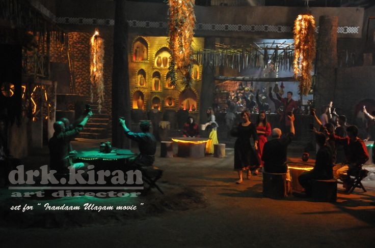 irandaam ulagam movie set