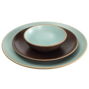 Heath Ceramics Coupe dinner plates. So classic - this is my color combo except for the bowl - we have taupe inside:) Love Heath Ceramics!