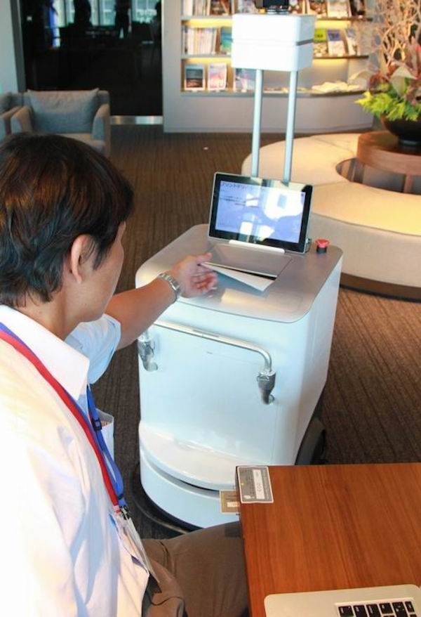 a robot printer that delivers printed documents to your work desk rh pinterest co uk