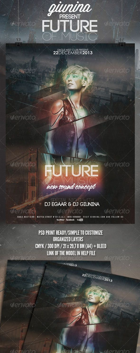 invitation wording for networking event%0A Future of Music Flyer Poster