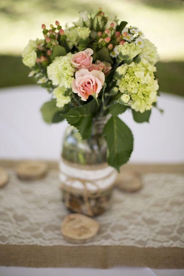 Rustic Wedding Centerpieces {Christian Burge Photography} - mazelmoments.com