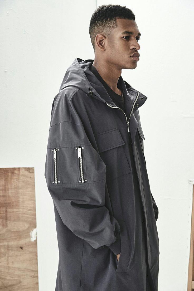 BERKHAN waterproof hooded long coat spring item  벌칸 스튜디오 패션 봄코트 후드 아이템  Double zip