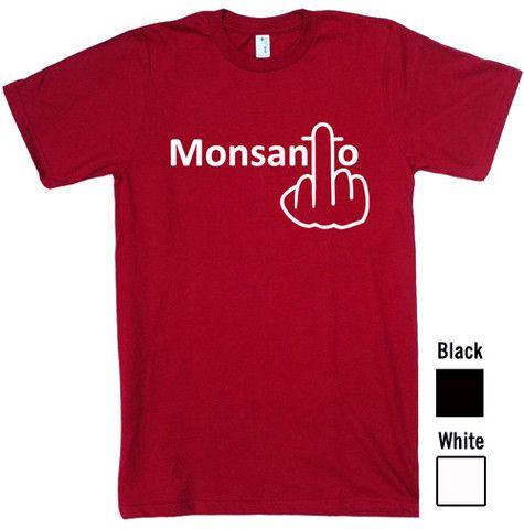 """Monsanto Finger"" Unisex Organic Cotton T-shirt"