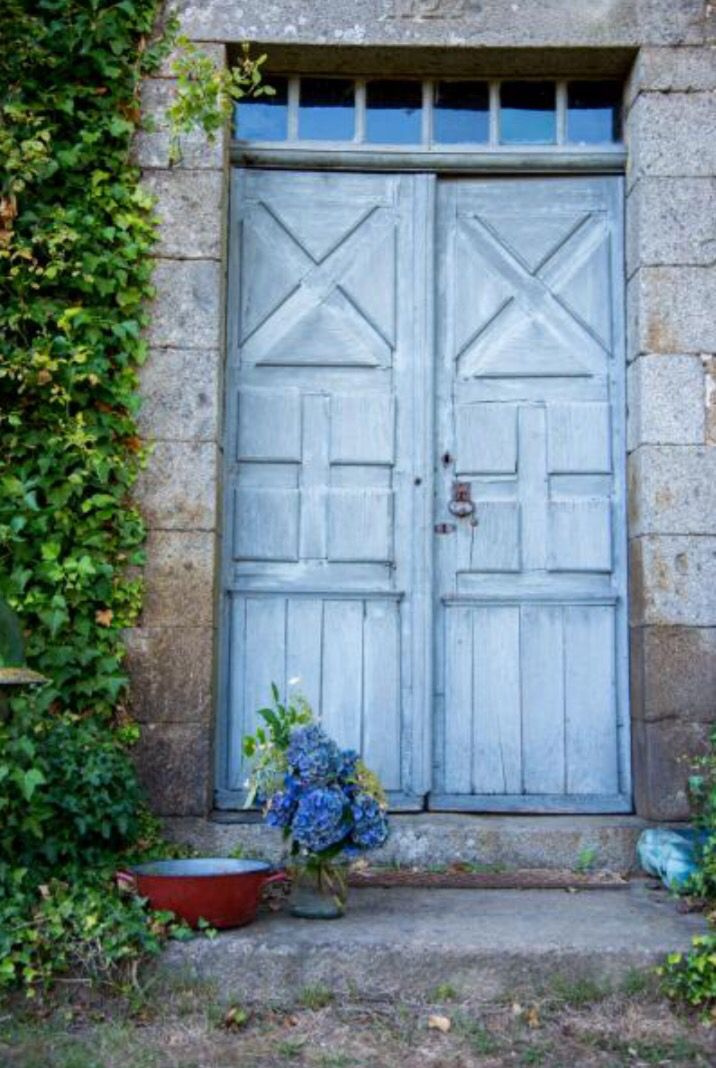 """This lovely blue front door is from our feature """"Behind the Scenes"""""""