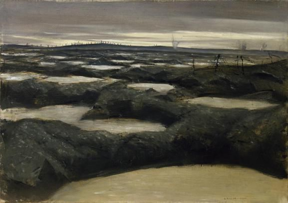 After Push, 1917, C R W Nevinson. Imperial War Museums