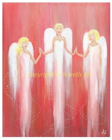 Love and Healing Angels Original Painting by Julia Underwood
