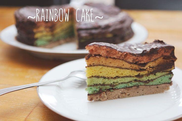 Rainbow Cake – La pâtisserie sans cruauté et sans gluten