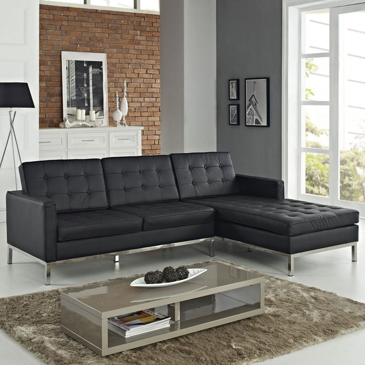 living room ideas with leather furniture%0A Leather RightArm Corner Sectional Sofa   Overstock com Shopping  Big  Discounts on