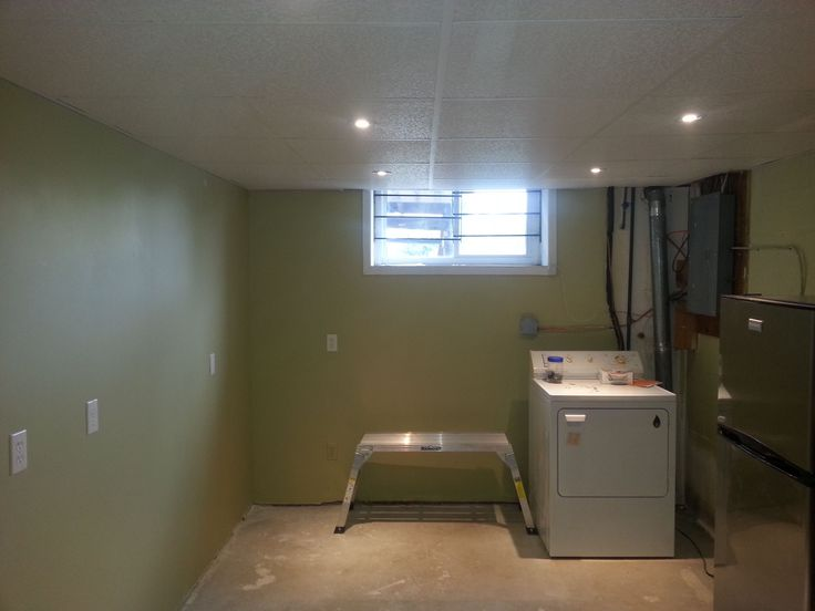 LED lights added into drop ceiling.