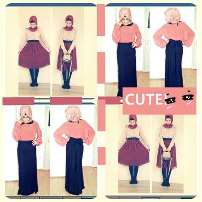 #cute pink hijab,cute to go anywhere