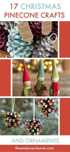 Christmas Pinecone Crafts for Kids and Adults #christmas #crafts #diy #pinecones #holidays #xmas #christmascrafts #christmascraftsforkids
