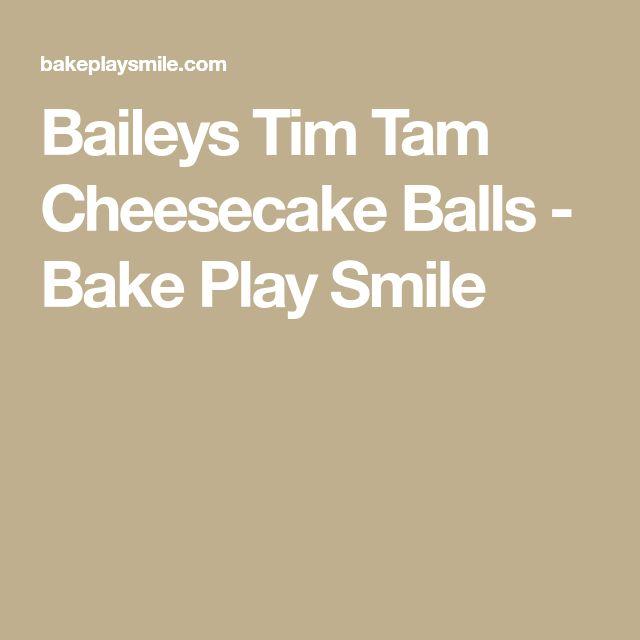 Baileys Tim Tam Cheesecake Balls - Bake Play Smile