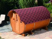 Saunafass 330 de luxe, montiert bei Gartenhaus2000