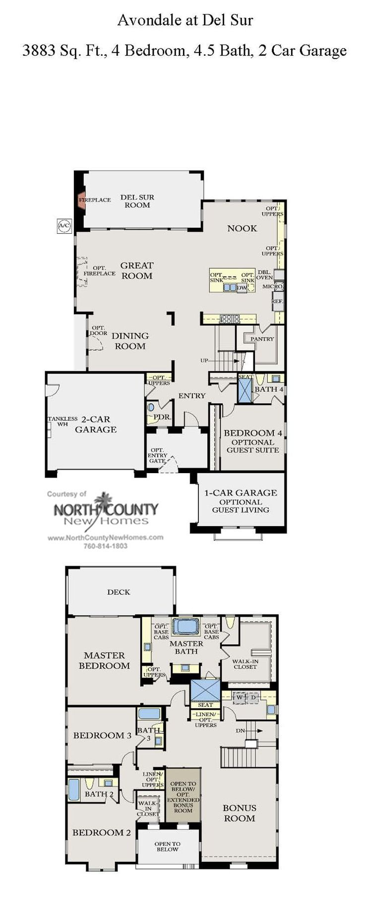 308 best new home floor plans in north county san diego Avondale house plan