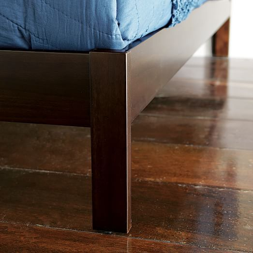 simple bed frame chocolate - Simple Bed Frame