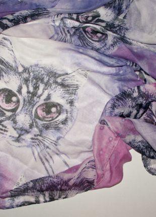 Kaufe meinen Artikel bei #Kleiderkreisel http://www.kleiderkreisel.de/accessoires/tucher/111009416-grosses-tuch-halstuch-mit-galaxy-katzen-muster-von-asos-in-lila-weiss-rosa