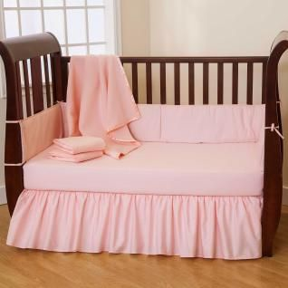 Basic solid color crib bedding sets for those seeking simplicity, durability, and affordability. Made with 100% cotton and machine washable.