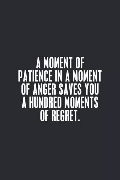 a moment of patience