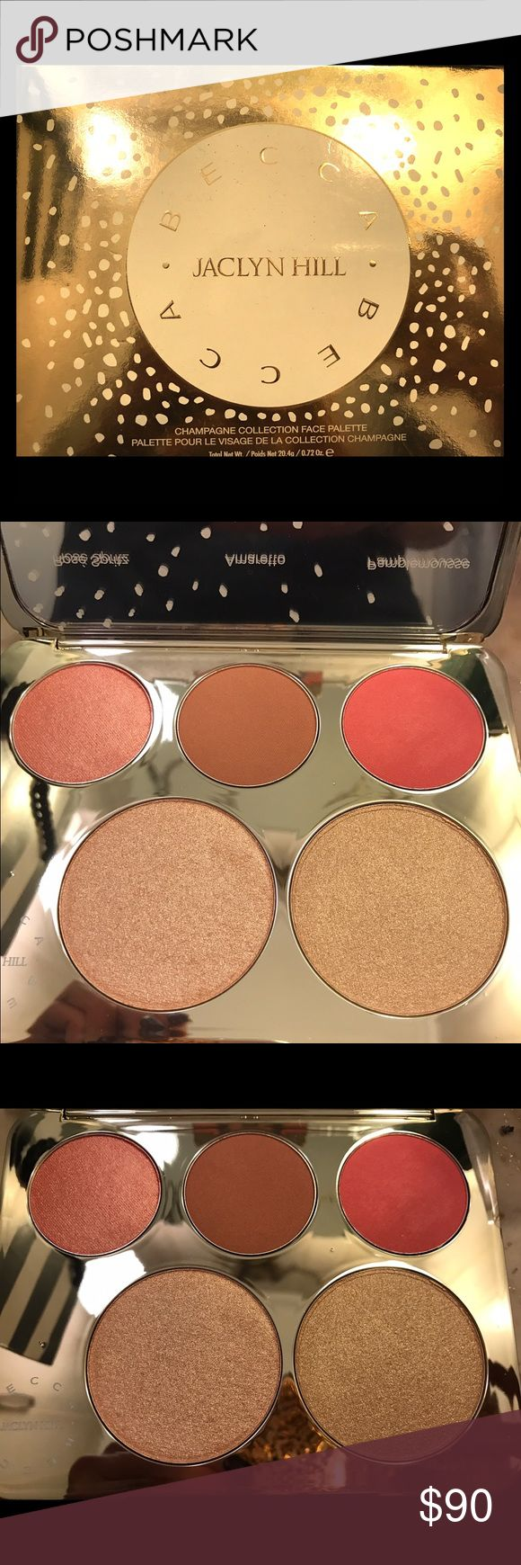 Jaclyn Hill x Becca Palette Jaclyn Hill x Becca champagne collection face palette. Limited edition item. No longer available to buy. Brand new and authentic. Only taken out of box for pictures. Also comes with sample of Becca's backlight priming filter. Has 2 blush colors & 3 highlighting colors. New shades were created just for this palette. Open to offers. Open to trades specifically VS Pink clothes. BECCA Makeup