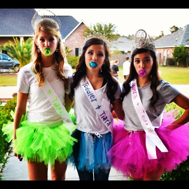 We were Toddlers and Tiaras for Halloween<3