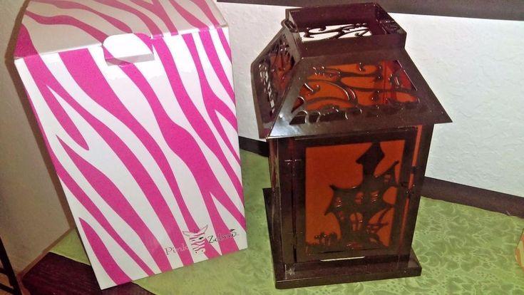 Haunted metal lantern Pink Zebra Home NIB #PinkZebra