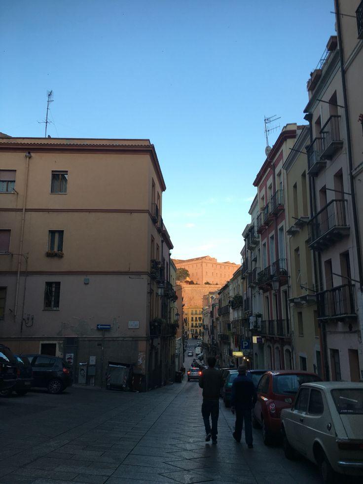 Cagliari street in the twilight!!!!