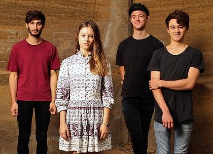 San Cisco, from left: Josh Biondillo, Scarlett Stevens, Nick Gardner and Jordi Davieson.