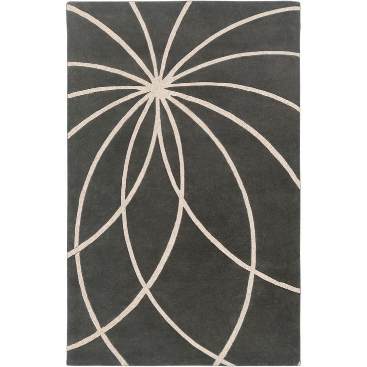Hand-tufted Pavia Charcoal Floral Wool Rug (9' x 12')   Overstock.com  640