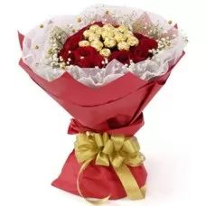 Chocolate Bouquet, Roses and Chocolate, Red Roses