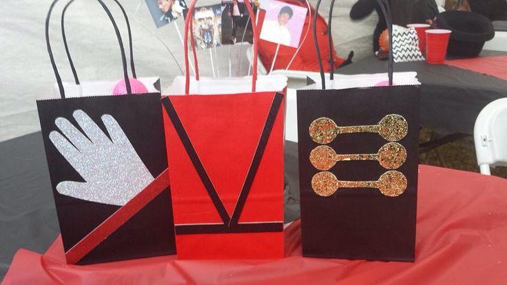 Michael Jackson favor bags