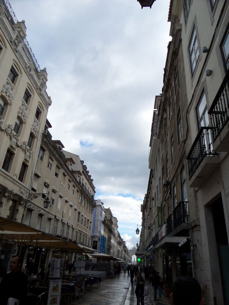 Augusta Street in Lisbon - Portugal