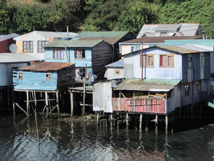 """Historical """"stilt houses"""" ~ Castro, Island of Chiloe; fabulous trip!!"""