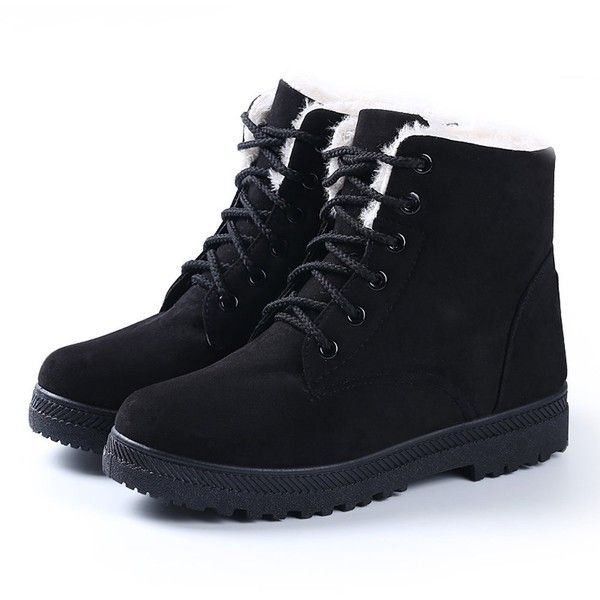 Fashion Brand Best Show Women's Winter Snow Boots Plus Warm Cotton... (695 PHP) ❤ liked on Polyvore featuring shoes, flat shoes, wide flat shoes, cotton shoes, wide width flat shoes and wide shoes