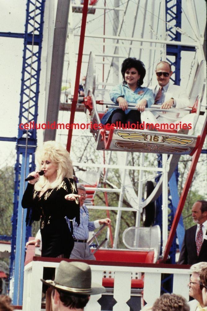 Original 35mm Photo Slide Dolly Parton Delta Burke Gerald McRaney