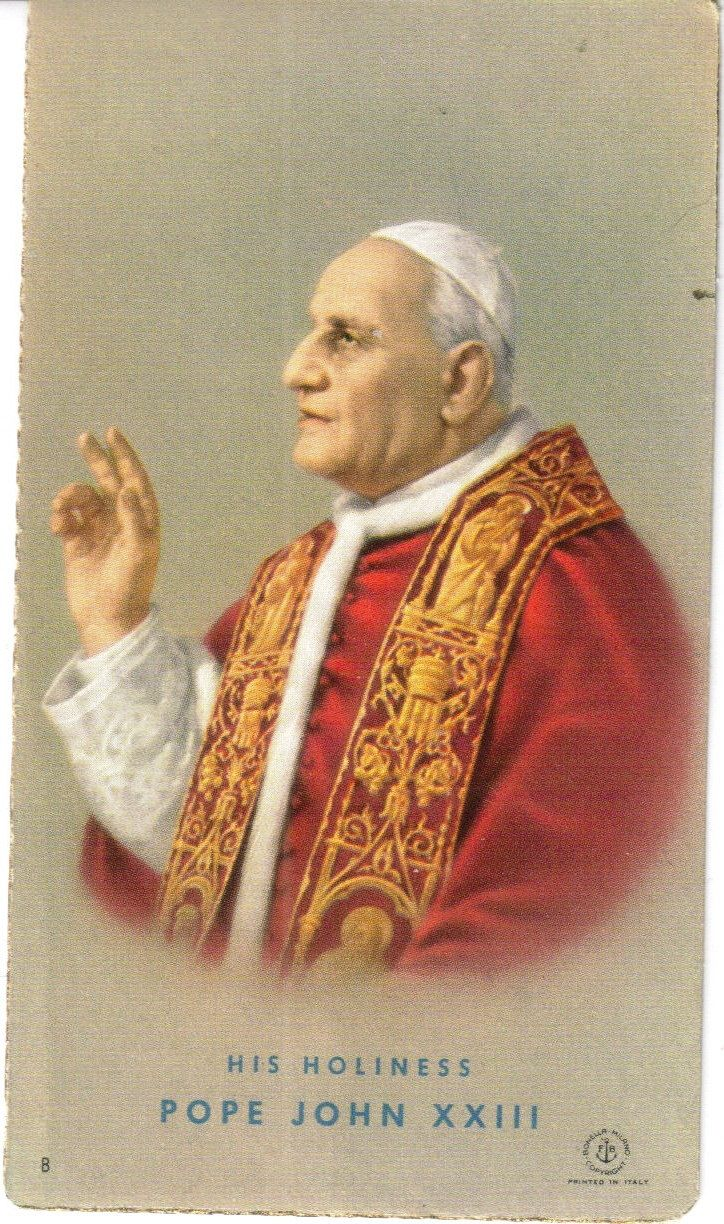 pope john 23 notes Pope john paul i died only 33 days into his pontificate  the secretaries packed up the pope's clothes, letters, notes and personal mementos  march 23, 1986.