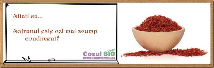 Stiati ca...Sofranul este cel mai scump condiment? http://www.cosulbio.ro/cumpara/sofran-bio-2195672