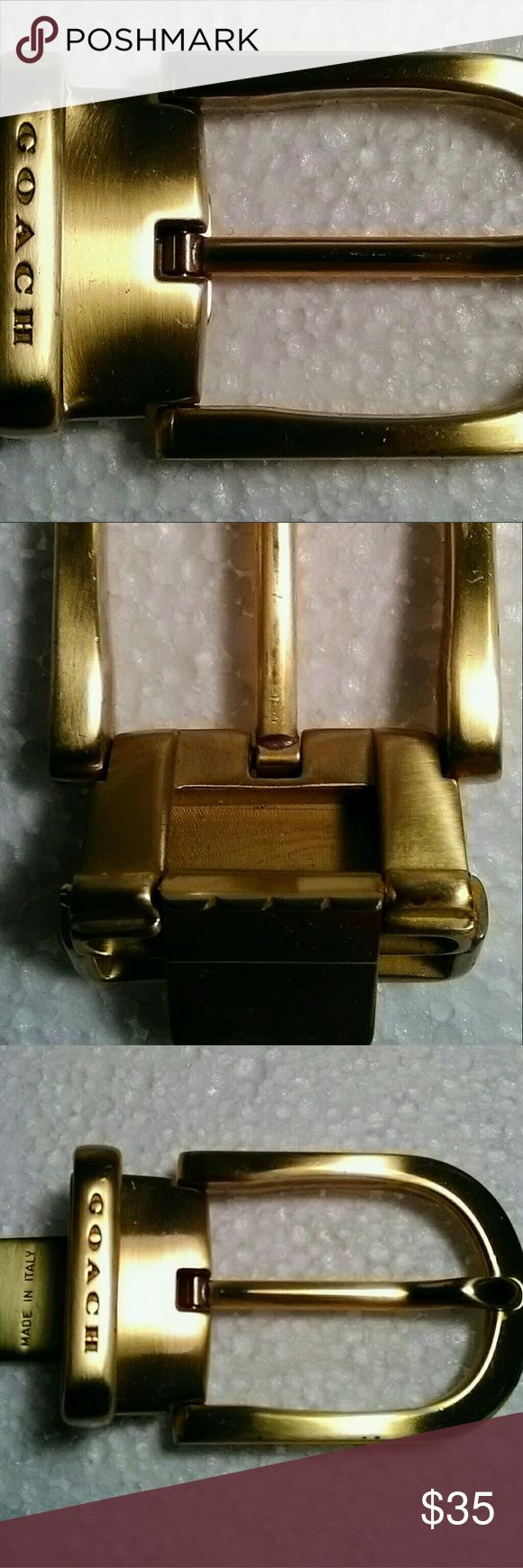 Coach belt buckle Authentic coach brass buckle Coach Other