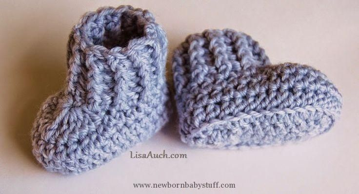 Crochet Baby Booties 10 minute Easy Crochet Booties Pattern | Free Crochet Patte...