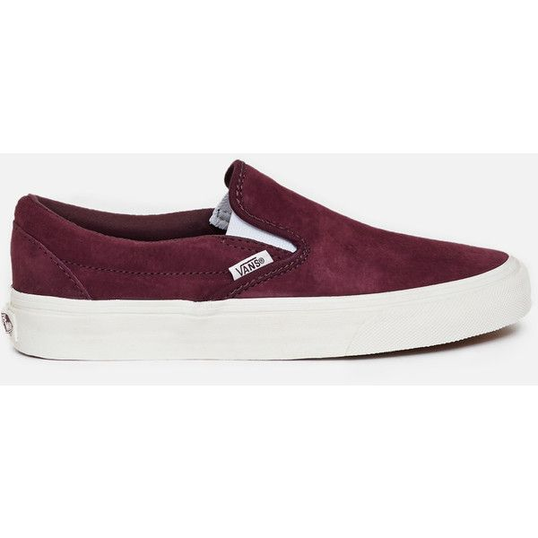 Vans Classic Slip-Ons ($55) ❤ liked on Polyvore featuring shoes, sneakers, pull-on sneakers, roll up shoes, slip-on shoes, evening shoes and special occasion shoes