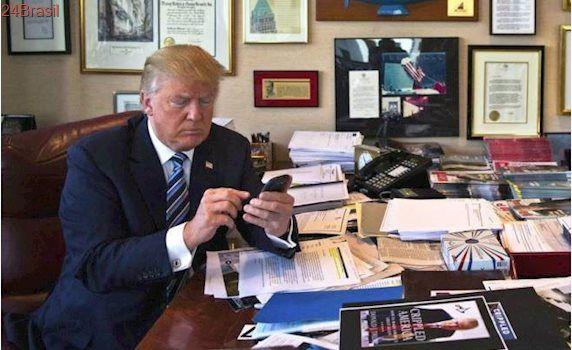 Donald Trump contraria Serviço Secreto dos EUA e ainda usa um Galaxy S3
