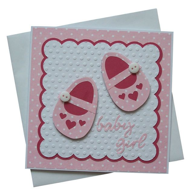Handmade New Baby Girl Card £1.80