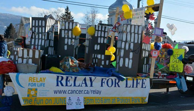 Vernon winter carnival parade. 2014 .Relay For Life Parade/Floats.....