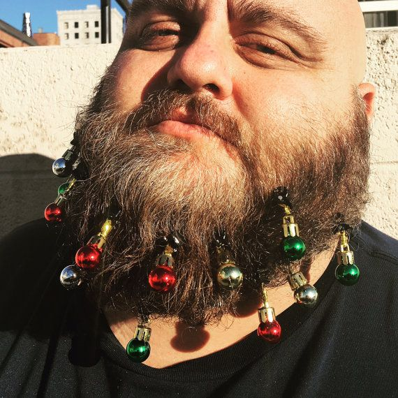 Get your beard excited for the holidays! The official Beardaments Beard Ornaments (www.beardaments.com) include 12-pack of original Beardaments beard